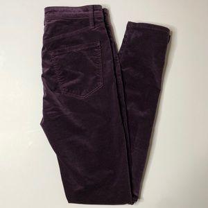 NWOT J BRAND Maria High Rise Skinny purple pants